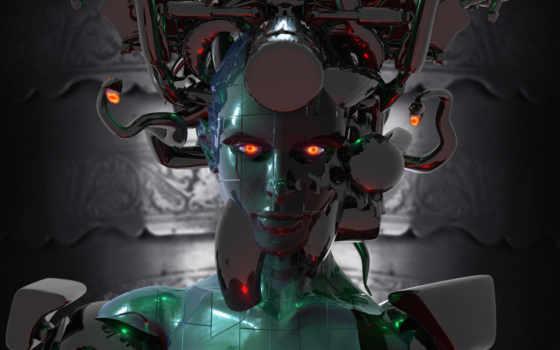 робот, девушка