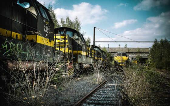 дорога, железная, поезд