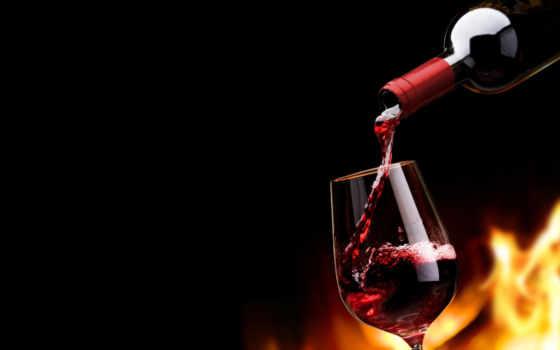 вино, glass, бутылка, black, красное,