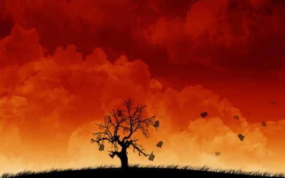 арт, облака,
