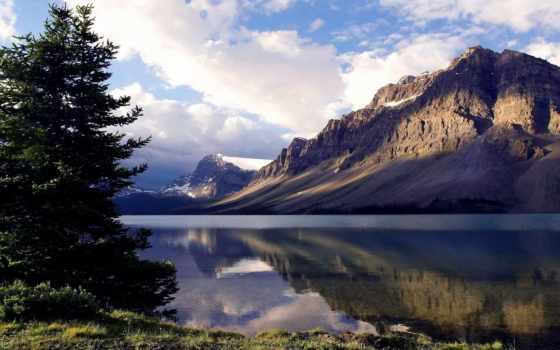 озеро, горы, природа, подножия, красивые, холмистая, несколько, озера, вездеход,