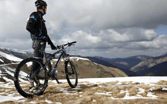 , велосипед, горы,