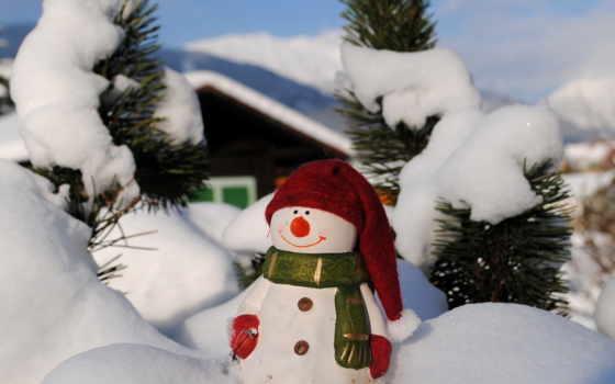 снеговик, snowman