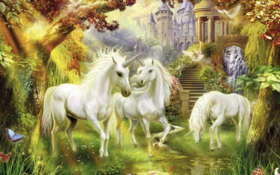kinkade, thomas, единорог, единороги, лошадь, фантастика, фэнтези, замок, картинка, голуби, сказка, картинку, выберите, красивые, правой, кнопкой,