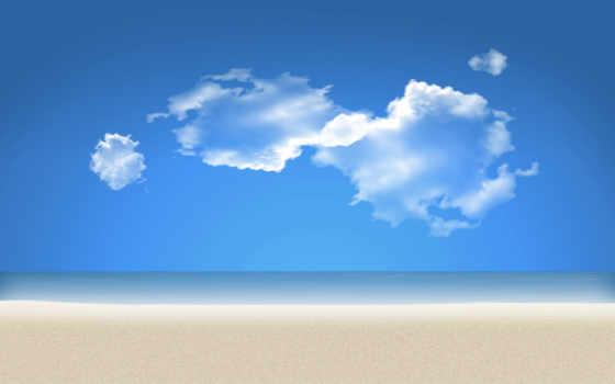 пляж, песок, море
