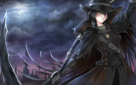 bloodborne, anime, widescreen