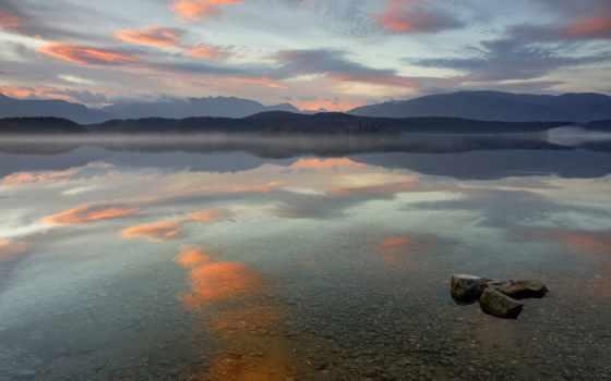 озеро, bottom, горы, oblaka, пейзажи -, камни, прозрачность, игры, макро, машины,