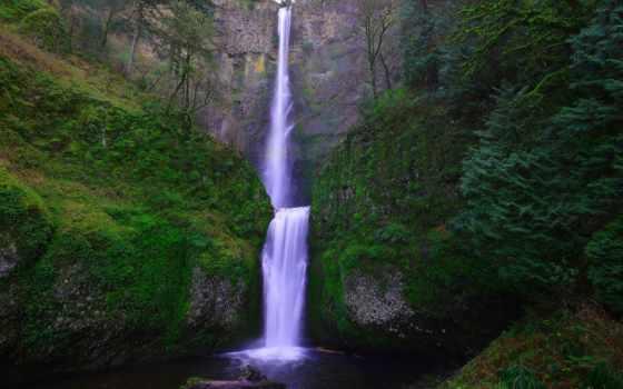 falls, multnomah, landscape, amor, водопад, waterfalls, algún, feet,
