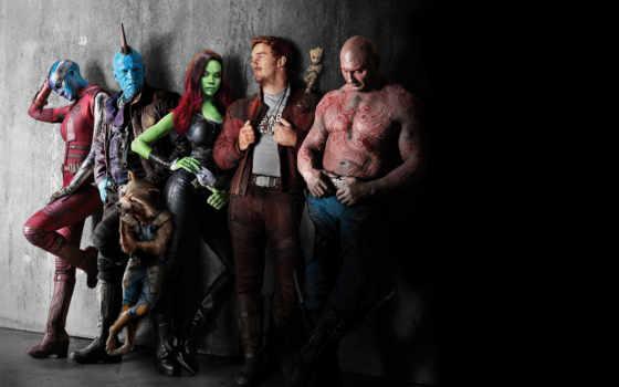 галактики, стражи, часть, прэтт, chris, saldana, zoe, фантастика, еноты, кадры, galaxy,