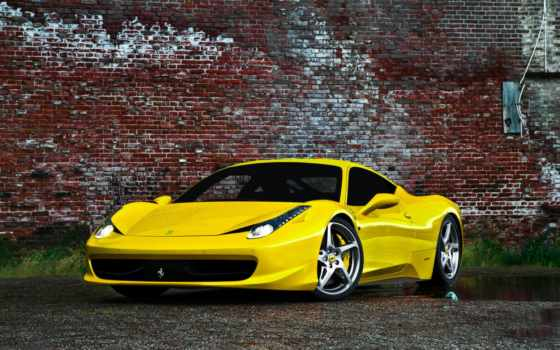 ferrari, italia, yellow,