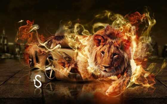 lion, огонь, mod, место, тема, red, tony, star, animal, fantasy, лео