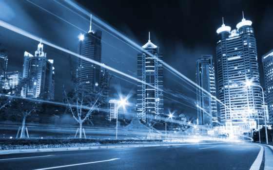 город, ночной Фон № 6675 разрешение 4000x2436
