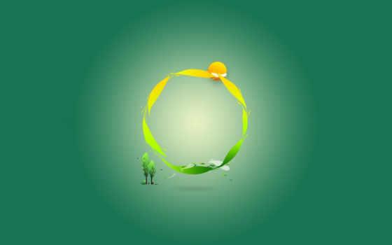 зелёный, минимализм