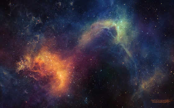 space, арт, звезды, hellsescapeartist, свечение, outer, universe, nebula,