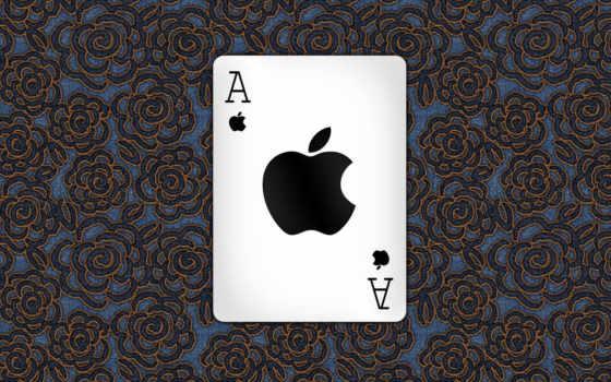 apple, яблоко, карта, логотип, узор,