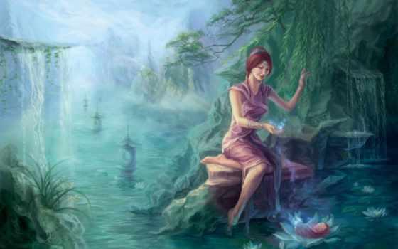art, девушка, reservoir