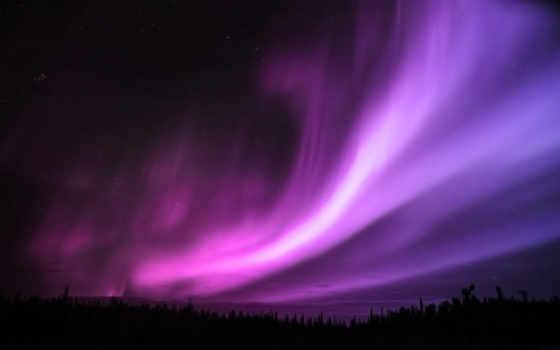 aurora, ecran, borealis, high, fonds, widescreen, definition, purple,