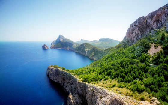 море, скалы, природа