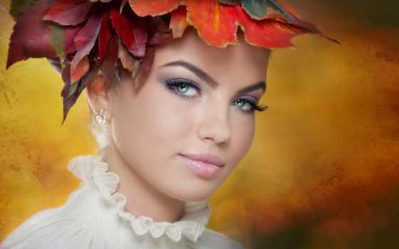 maquillage, красивые, женщина, девушка, les, hairstyle, beaux, композиция, творческие,