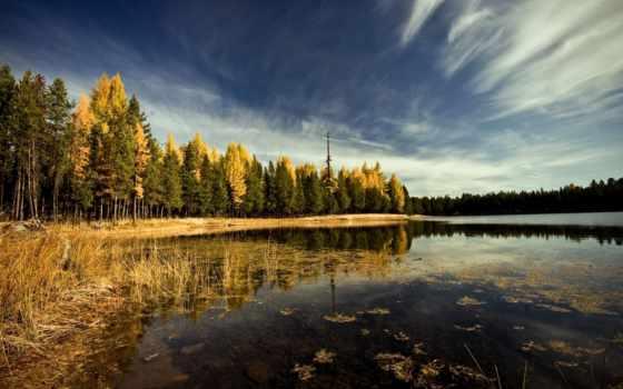 лес, озеро, lakes, природа, high, definition, небо, mountains,