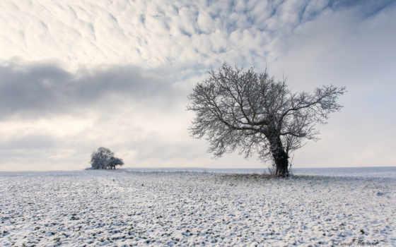 поле, заснеженное, пейзажи -, oblaka, небо, winter, spotify, antonio, piazzoni, природа,