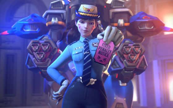 overwatch, офицерский, police, you, dva, game,