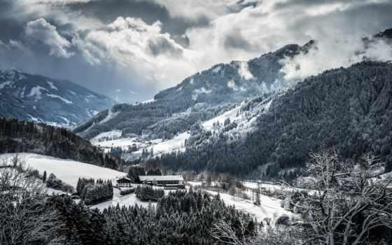 winter, горы, снег, iphone,