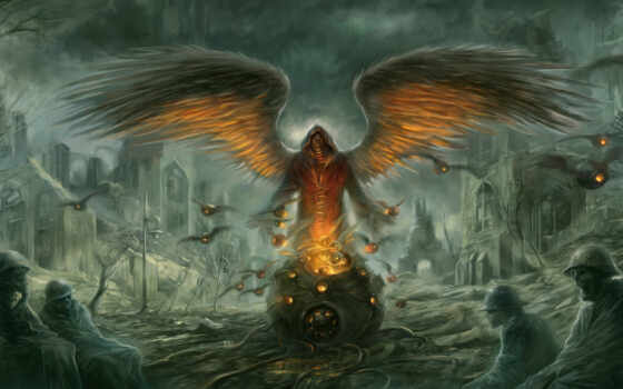 демон, люди, взгляд