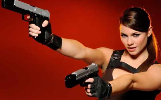 девушка, devushki, posted, tomb, raider, авто, крофт, оружие, картинка,
