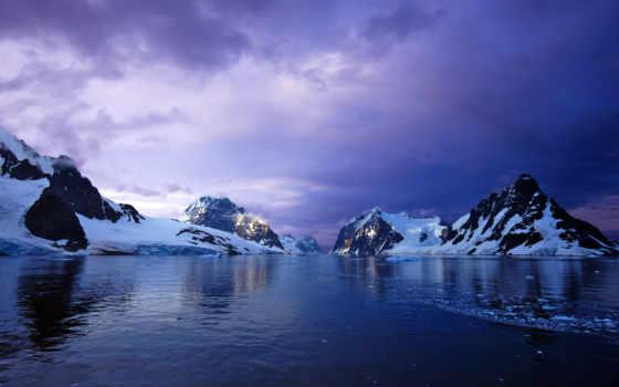закат, горы, широкоформатные