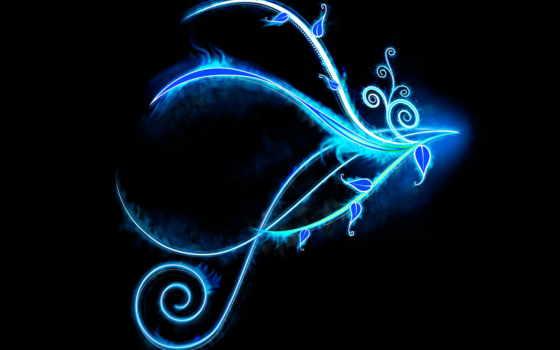 pattern, fone, синего, узоры, банка, черном, black, темном, абстракция, синем,