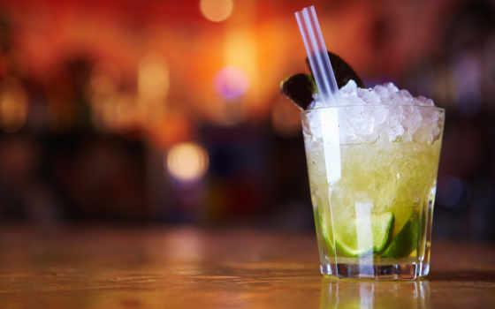 коктейль, мохито, лед