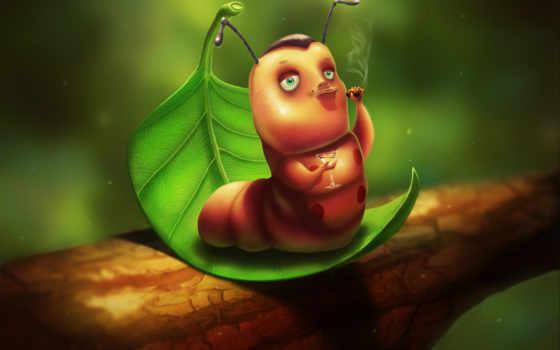 гусеница, рисунок