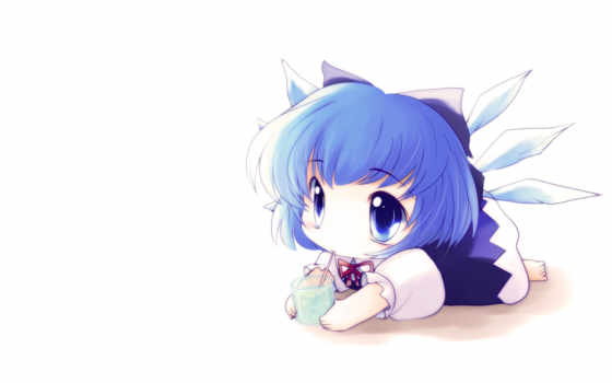 аниме, девочка пьёт сок через трубочку