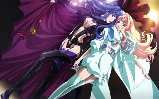 аниме, девушки, платье