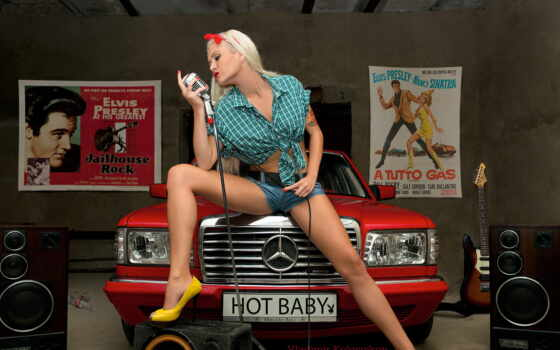 девушка, mercedes, benz, red, babe, presley, elvis, музыка, blonde, трусы,