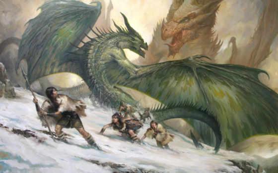 драконы, битва