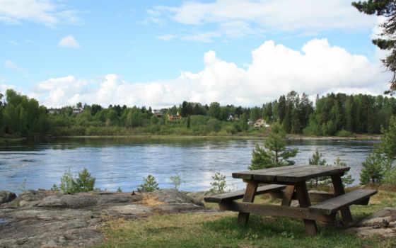 озеро, лес Фон № 25066 разрешение 2560x1600