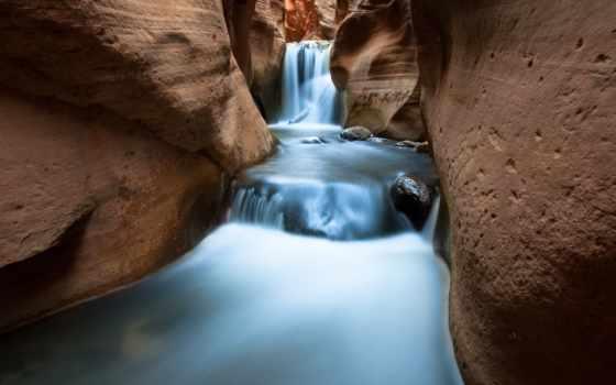 камни, скалы, водопад