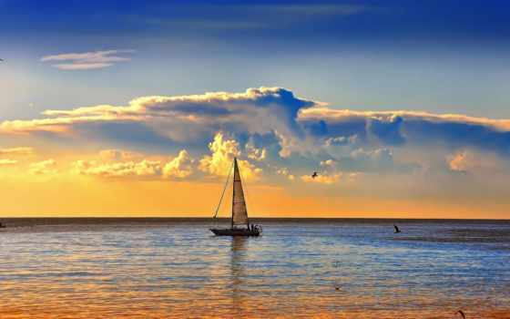 природа, яхта, красивые, sail, красивое, everything, море, android, рассвет, sailboat, мачтовый,