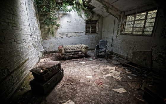 abandonado, pantalla, fondo, viejo, ruina, fondos, интерьер, escritorio, para,