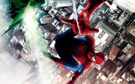 мужчина, паук, new, amazing, высокое, voltage, promo,