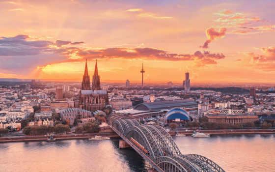 красивые, город, германия