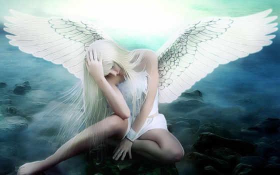 angel, грустный