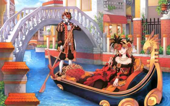венеция, гондола, канал
