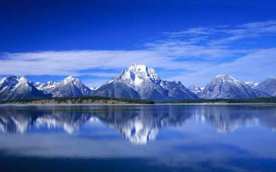 горы, небо, oblaka
