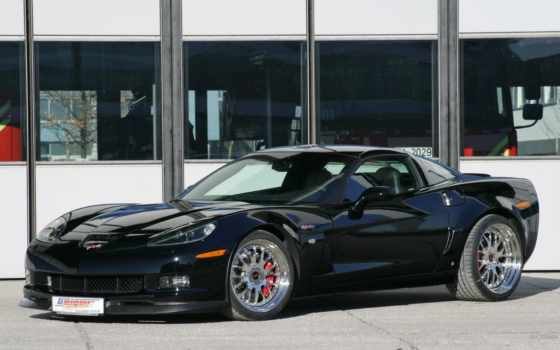 corvette, black, geigercars