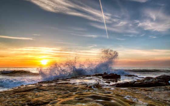 море, камни, waves