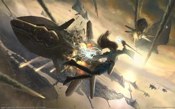 бой, fantasy, aerial