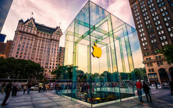 apple, store, лучшей, компании, new, glass, магазин, york, fifth, сша,